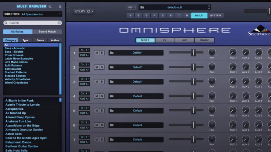 【DTM】Spectrasonics社「Omnisphere」の使い方【マルチ画面】